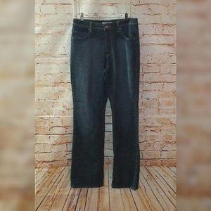 Chicos Platinum 1 Dark Wash Blue Jeans Wide Leg 8